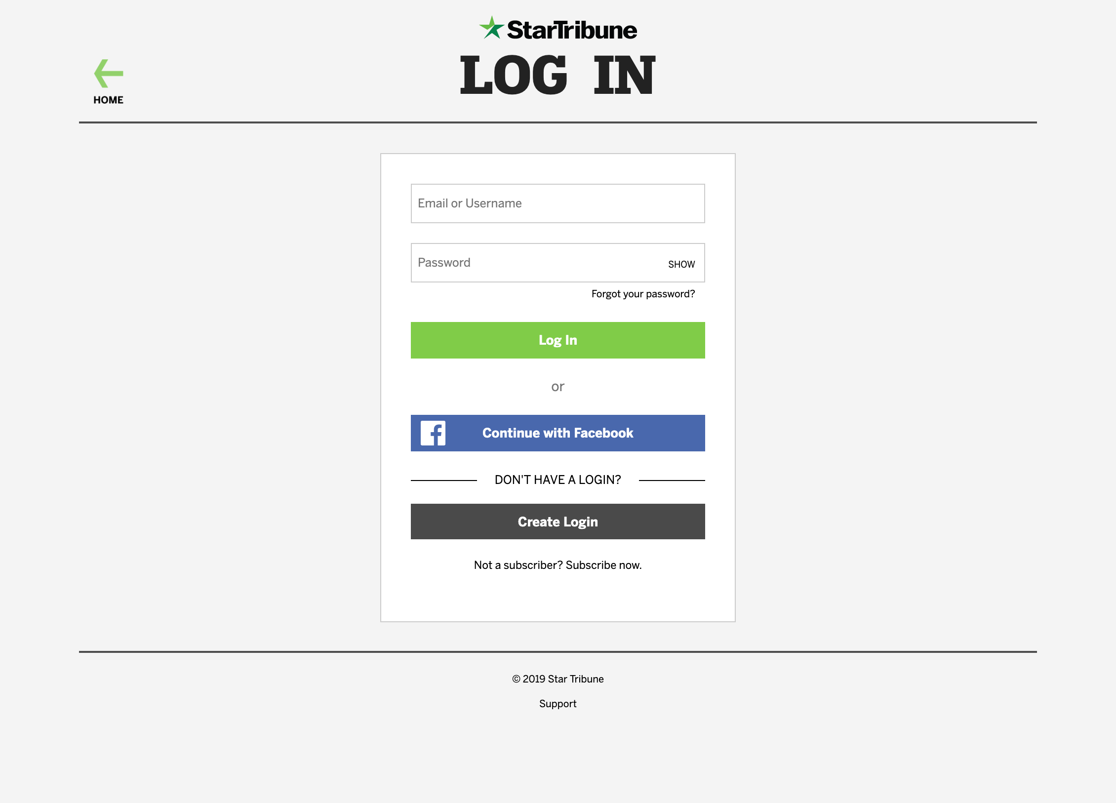 browser w social login